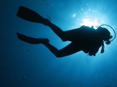 Base Jump unter Wasser